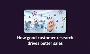 customer research drives sales image
