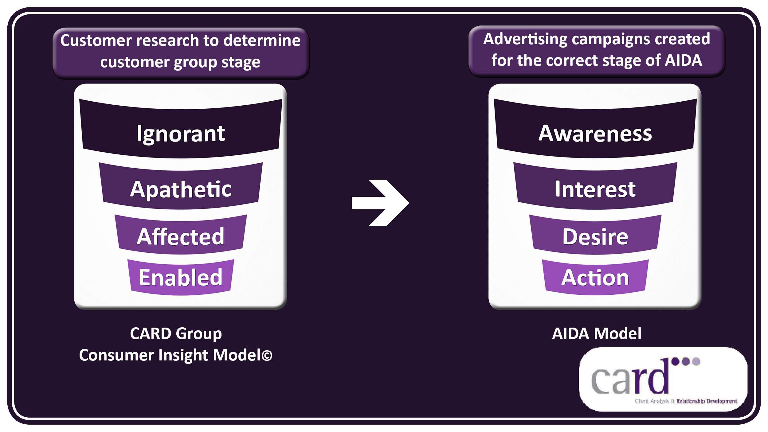 Customer Insight Model v. AIDA model