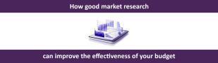 How good market research improve budget effectiveness
